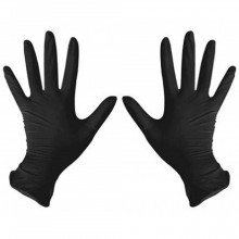 benovy size L - Перчатки нитриловые чёрные размер Л, 1 пара