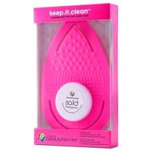beautyblender keep.it.clean - Рукавичка для очищения спонжей РОЗОВАЯ + и мини мыло 1 + 30гр