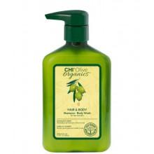 CHI Olive organics HAIR & BODY Shampoo / Body Wash - Шампунь для волос и тела с маслом оливы 340мл