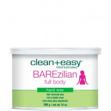 clean+easy Hot Wax BAREzilian - Горячий воск в банке для всего тела 396гр