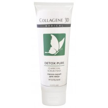 Collagene 3D Cream-Mask DETOX PURE - Маска-скраб угольная для лица 75мл