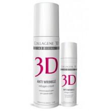 Collagene 3D Cream ANTI WRINKLE - ПРОФ Крем для лица с плацентолью, коррекция возрастных изменений для зрелой кожи 150мл
