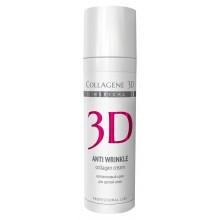 Collagene 3D Cream ANTI WRINKLE - ПРОФ Крем для лица с плацентолью, коррекция возрастных изменений для зрелой кожи 30мл