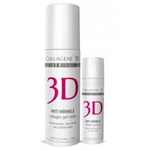 Collagene 3D Gel-Mask ANTI WRINKLE - ПРОФ Гель-маска для лица с плацентолью, коррекция возрастных изменений для зрелой кожи 130мл