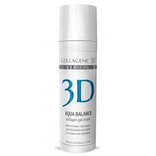 Collagene 3D Gel-Mask AQUA BALANCE - ПРОФ Гель-маска для лица с гиалуроновой кислотой, восстановление тургора и эластичности кожи 30мл