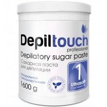Depiltouch Depilatory Sugar Paste №1 ULTRASOFT - Сахарная паста для депиляции СВЕРХМЯГКАЯ 1600гр