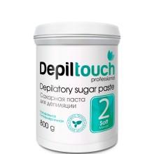 Depiltouch Depilatory Sugar Paste №2 SOFT - Сахарная паста для депиляции МЯГКАЯ 800гр