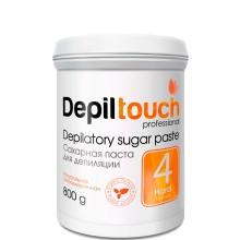 Depiltouch Depilatory Sugar Paste №4 HARD - Сахарная паста для депиляции ПЛОТНАЯ 800гр