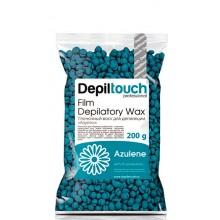 Depiltouch Film Depilatory Wax AZULENE - Горячий гранулированный плёночный воск АЗУЛЕН 200гр