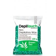 Depiltouch Film Depilatory Wax GREEN TEA - Горячий гранулированный плёночный воск ЗЕЛЁНЫЙ ЧАЙ 100гр