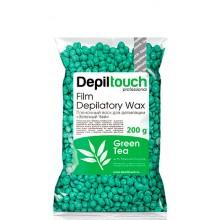Depiltouch Film Depilatory Wax GREEN TEA - Горячий гранулированный плёночный воск ЗЕЛЁНЫЙ ЧАЙ 200гр