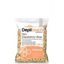 Depiltouch Film Depilatory Wax NATURAL - Горячий гранулированный плёночный воск НАТУРАЛЬНЫЙ 100гр