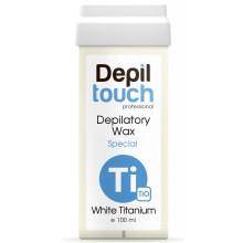 Depiltouch Depilatory Wax Special WHITE TITANIUM - Тёплый воск для депиляции Специальный БЕЛЫЙ ТИТАН 100мл