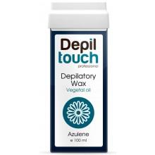Depiltouch Depilatory Wax Vegetal Oil AZULENE - Тёплый воск для депиляции (мягкий) + 40С с натуральным маслом АЗУЛЕН 100мл