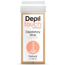 Depiltouch Depilatory Wax Vegetal Oil NATURAL - Тёплый воск для депиляции (мягкий) + 40С с натуральным маслом НАТУРАЛЬНЫЙ 100мл