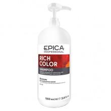 EPICA Professional RICH COLOR SHAMPOO - Шампунь для окрашенных волос с маслом макадамии и экстрактом виноградных косточек 1000мл