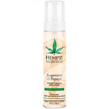 HEMPZ Body Wash Sugarcane & Papaya Herbal Foaming - Гель-мусс для душа Сахарный тростник и Папайя 250мл
