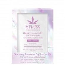 HEMPZ HERBAL Body Blueberry Lavender & Chamomile Herbal Relaxing Bath Salts - Соль для ванны расслабляющая Лаванда, Ромашка и Дикие Ягоды 2 х 28гр
