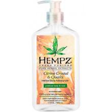 HEMPZ HERBAL Body Moisturizer Citrine Crystal & Quartz Body Moisturizer - Молочко для тела увлажняющее с мерцающим эффектом Желтый Кварц 500мл