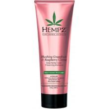 HEMPZ PURE HERBAL Blushing Grapefruit & Raspberry Creme Shampoo - Шампунь растительный Грейпфрут и Малина для сохранения цвета и блеска окрашенных волос 265мл