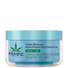 HEMPZ Body Scrub Triple Moisture Herbal Whipped Creme - Скраб для Тела Тройное Увлажнение 176гр