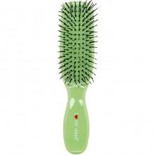 """I Love My Hair """"Spider Classic"""" 1503 - Парикмахерская щетка Зелёная глянцевая S, 30 х 30 х 170мм"""