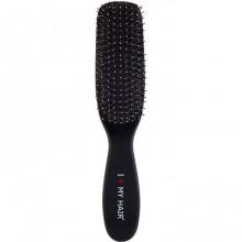 "I Love My Hair ""Spider Soft"" 1501 - Парикмахерская щетка Чёрная матовая M, 37 х 46 х 210мм"