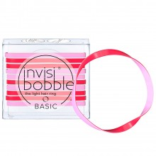 Invisibobble BASIC Jelly Twist - Резинка для волос цвет Красно-розовый 10шт