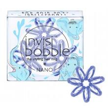 Invisibobble NANO Bad Hair Day? Irrelephant! - Резинка-браслет для волос, цвет Васильковый 3шт