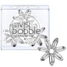Invisibobble NANO Crystal Clear - Резинка-браслет для волос, цвет прозрачный 3шт