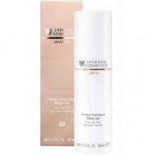 JANSSEN Cosmetics MAKE UP 03 Perfect Radiance Make Up - Стойкий тональный крем с UV-защитой SPF-15 для всех типов кожи (капучино) 30мл