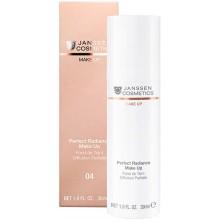 JANSSEN Cosmetics MAKE UP 04 Perfect Radiance Make Up - Стойкий тональный крем с UV-защитой SPF-15 для всех типов кожи ТОН 04 САМЫЙ ТЕМНЫЙ 30мл