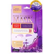 JAPAN GALS Premium Three Types of Placenta MASK - Набор масок для лица c тремя видами ПЛАЦЕНТЫ 30шт