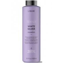 LAKME TEKNIA NEW! WHITE SILVER SHAMPOO - Тонирующий шампунь для нейтрализации желтого оттенка волос 1000мл