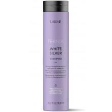 LAKME TEKNIA NEW! WHITE SILVER SHAMPOO - Тонирующий шампунь для нейтрализации желтого оттенка волос 300мл