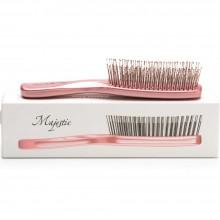 Majestic Pastel Pink - Инновационная универсальная расчёска Светло-Розовая для тонких ослабленных волос и чувствительной кожи головы 372 зубчиков