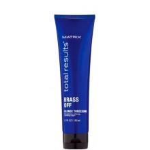 MATRIX total resalts™ BRASS OFF Blonde Threesome - Крем-уход питание и термозащита для светлых волос 150мл