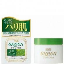 Meishoku Green plus Aloe Moisture Cream - Крем увлажняющий для сухой кожи лица с Алоэ 48гр