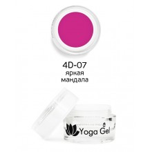 nano professional 4D Yoga Gel - Гель-дизайн 4D-07 яркая мандала 6мл