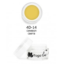 nano professional 4D Yoga Gel - Гель-дизайн 4D-14 символ света 6мл