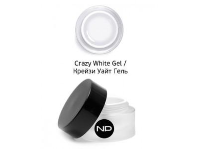 nano professional Gel - Гель цветной для прорисовки линии улыбки Crazy White Gel 5мл
