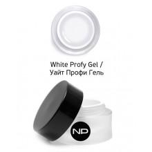 nano professional Gel - Гель для моделирования на форме White Profy Gel 15мл