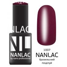 nano professional NANLAC - Гель-лак Эмаль NL 1007 бразильский поцелуй 6мл