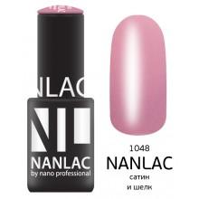 nano professional NANLAC - Гель-лак Эмаль NL 1048 сатин и шелк 6мл