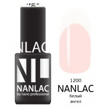 nano professional NANLAC - Гель-лак Эмаль NL 1200 белый ангел 6мл