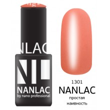 nano professional NANLAC - Гель-лак Эмаль NL 1301 простая наивность 6мл