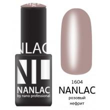nano professional NANLAC - Гель-лак Эмаль NL 1604 розовый нефрит 6мл