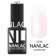 nano professional NANLAC - Гель-лак линия улыбки NL 1100 супербелый 6мл