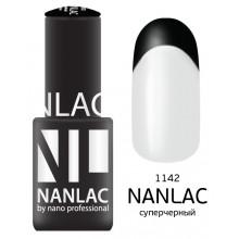 nano professional NANLAC - Гель-лак линия улыбки NL 1142 суперчёрный 6мл
