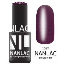 nano professional NANLAC - Гель-лак Мерцающая эмаль NL 1017 искушение 6мл